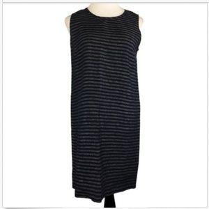 J Jill Sleeveless Love Linen Shift Dress SP Stripe